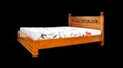 Продаю кровать массив дуба 100%,  резьба ручной работы.