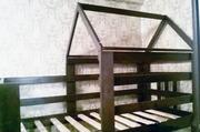 Кровать-чердак с балдахином домик